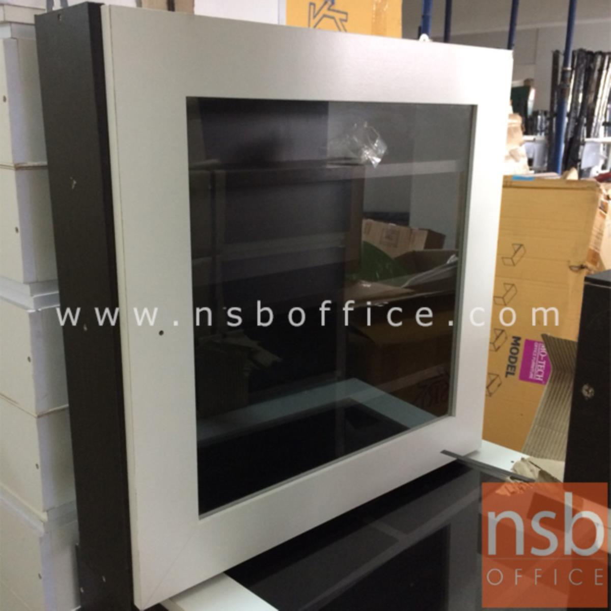 L10A242:ตู้ยาสามัญประจำบ้าน บานเปิดกระจก  หน้าบานสีขาว-โอ๊ค
