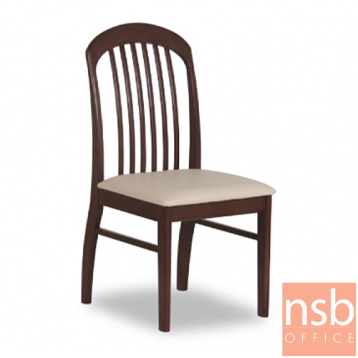 B22A139:เก้าอี้ไม้ที่นั่งหุ้มหนังเทียม รุ่น GD- SK ขาไม้