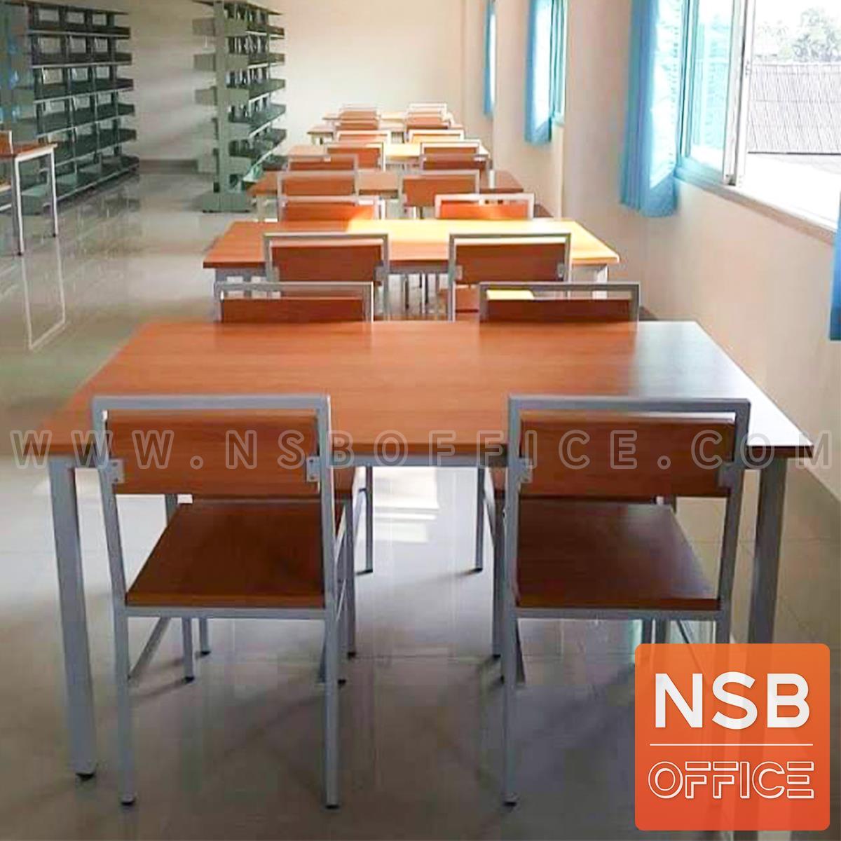 ชุดโต๊ะและเก้าอี้นักเรียนไม้ รุ่น Sunshine (ซันไชน์) ขนาด 120W, 150W cm. พร้อมเก้าอี้