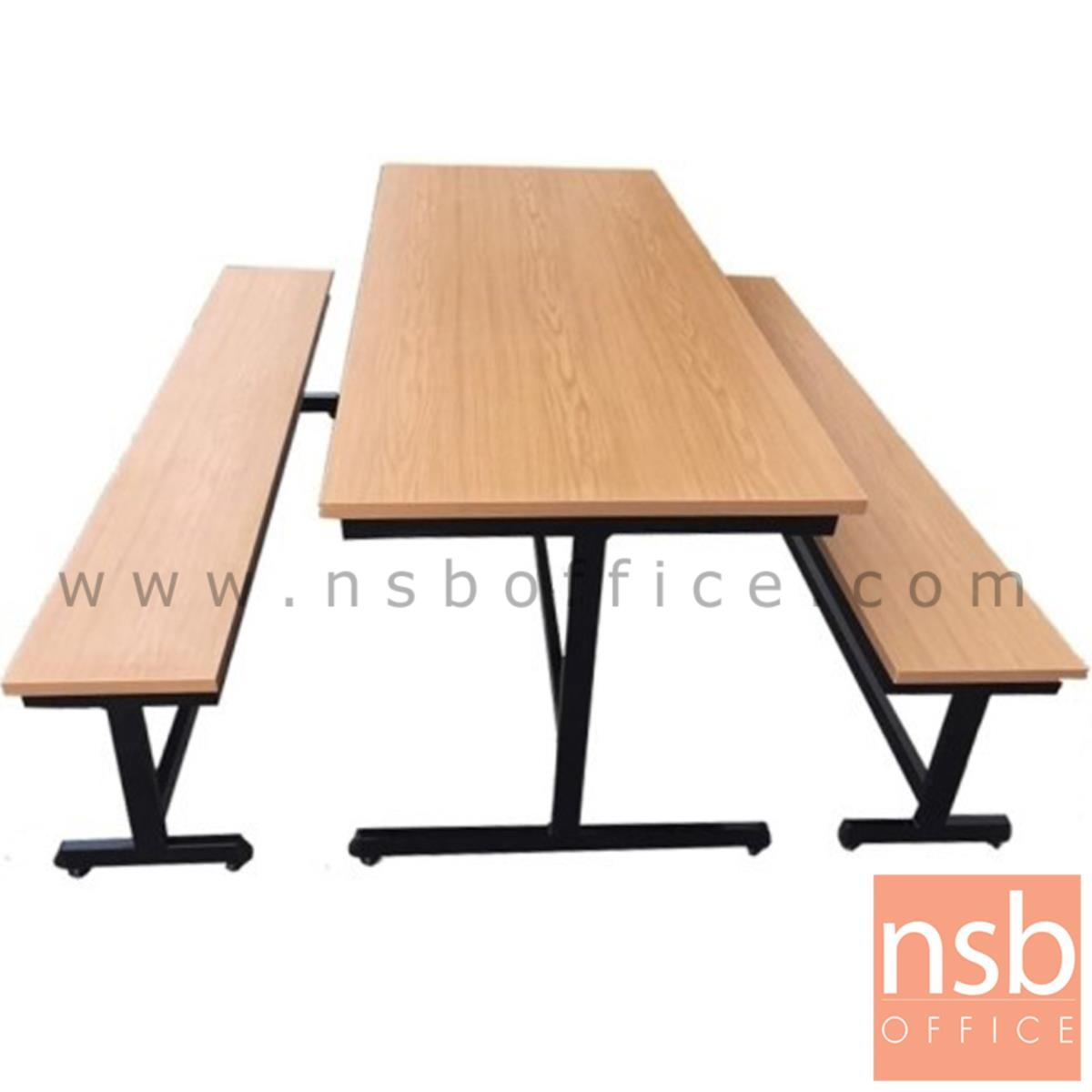 A17A076:โต๊ะโรงอาหารไม้เมลามีน รุ่น NORTH DOKOTA (นอร์ธดาโกตา) ขนาด 180W cm.  ขาเหล็กตัวไอ