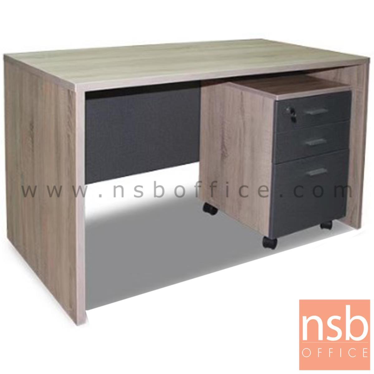 A13A204:โต๊ะทำงาน รุ่น JEJU (เชจู) ขนาด 120W cm. เมลามีน พร้อมตู้ลิ้นชัก
