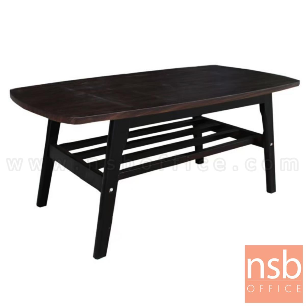 B13A291:โต๊ะกลางไม้จริง รุ่น Milner (มิลเนอร์) ขนาด 100W cm. ขาไม้