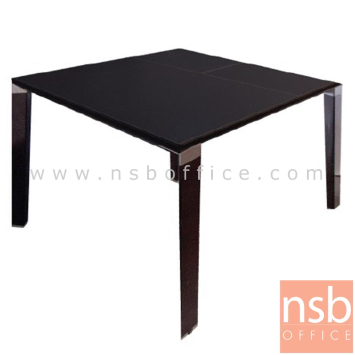 A05A170:โต๊ะประชุมทรงสี่เหลี่ยมปิดผิวหนังไมโครไฟเบอร์  ขนาด 100W cm. พร้อมปุ่มปรับระดับได้ ขาเหล็ก