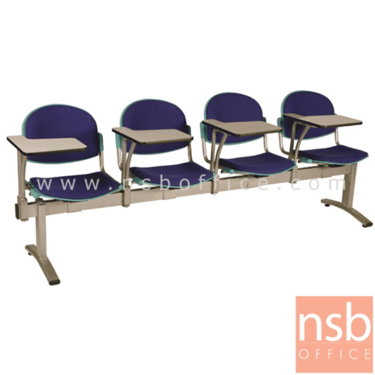 เก้าอี้เลคเชอร์แถวเฟรมโพลี่หุ้มเบาะ รุ่น D4656 2 ,3 และ 4 ที่นั่ง ขาเหล็กพ่นสีเทา