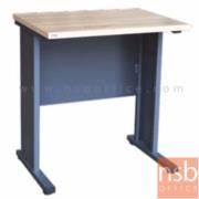 A10A063:โต๊ะทำงาน  รุ่น TIM-1800K ขนาด 80W cm. ขาเหล็ก สีลายไม้โซลิค