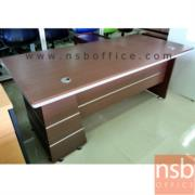 A13A020-1:โต๊ะผู้บริหารตัวแอล รุ่น RZ-FASHION-160W*80D*76H cm. พร้อมตู้ข้าง