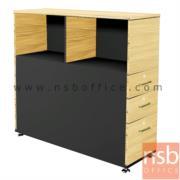 C01A041:ตู้กั้นข้างโต๊ะวางเอกสาร สำหรับ 2 ที่นั่ง (บนช่องวางเอกสาร / 3 ลิ้นชัก)