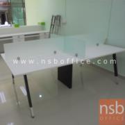 A04A167: โต๊ะทำงานกลุ่ม 4 ที่นั่ง ขากลางกล่องกระจังนำสายไฟ 240W*120D cm