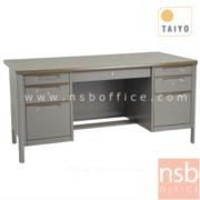 E02A047:โต๊ะทำงาน 7 ลิ้นชักขากล่อง มือจับอลูมิเนียมพร้อมกุญแจล็อค รุ่น TTD-45,TTD-50