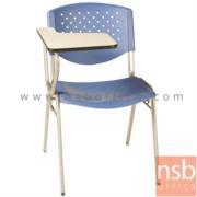 B07A050-1:เก้าอี้เลคเชอร์โพลี่ล้วน หลังรู ข้างมีตัวเกี่ยว รุ่น C436 ขาเหล็กพ่นสี