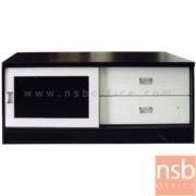 C08A019:ตู้ไซด์บอร์ดอเนกประสงค์บานเลื่อนกระจก มี 2 ลิ้นชัก รุ่น TV-OLIVER-1 ขนาด  120W cm.