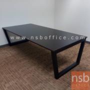 """A05A120-3:โต๊ะประชุม  ขนาด 300W*120D*75H cm. โครงขาเหล็กทรงคางหมู TOP เมลามีน ขาเหล็กเหลี่ยม 2.5"""" นิ้ว"""