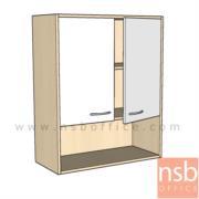 C06A063:ตู้แขวนลอยบานเปิด-ช่องโล่ง  80W*35D*110H cm.  เมลามีน