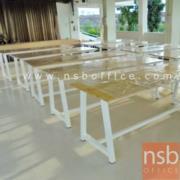 A07A063-1:โต๊ะโรงอาหาร หน้าไม้ยางพารา 150W*90D cm ขาทรงคางหมู