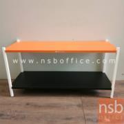 L01A094:โต๊ะกลางเหล็ก สีส้ม/ดำ ขนาด100*36*49ซม.