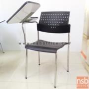 B07A049:เก้าอี้เลคเชอร์พิงโพลี่ ที่นั่งหุ้มเบาะ ขาโครเมี่ยม C3616