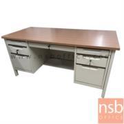 E22A018:โต๊ะทำงาน 7 ลิ้นชักขากล่อง รุ่น TY-TTD2 มือจับอลูมิเนียมพร้อมกุญแจล็อค