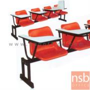 B17A029:เก้าอี้เล็คเชอร์แถวเฟรมโพลี่ล้วน 3 , และ 4 ที่นั่ง รุ่น PC311L ขาเหล็กเหลี่ยมพ่นสีดำ