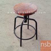 B09A137:เก้าอี้ปฎิบัติการที่นั่งกลม หน้าไม้เนื้อแข็งกลม CM-216 ขนาด Di30*H45-52 cm. (ปรับระดับด้วยแกนเกลียว)