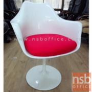 B05A119:เก้าอี้โมเดิร์นอเนกประสงค์พลาสติก มีแขน รุ่น FTC-CP800 หุ้มผ้าสีดำ