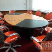 A05A044-1:โต๊ะประชุมรูปไข่ 8-10 ที่นั่ง 260W*140D cm เมลามีนทูโทน