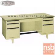 E28A105:โต๊ะทำงานเหล็กหน้าโฟเมก้า 7 ลิ้นชัก ยี่ห้อ Lucky รุ่น TC   ผลิต 4.5 , 5 และ 6 ฟุต