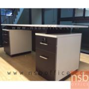 A15A007:โต๊ะผู้บริหาร ก.180*ล.80 ซม. 2 ลิ้นชักซ้าย-ขวา สีเวงเก้-ขาว