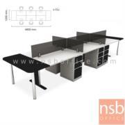 A27A002:ชุดโต๊ะทำงานกลุ่ม 6 ที่นั่ง 480W cm พร้อมลิ้นชักเหล็กอย่างดี TY-WS026G