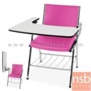 B07A083:เก้าอี้เลคเชอร์หุ้มหนัง มีตะแกรงสำหรับวางของใต้ที่นั่ง รุ่น PC-LCR04 ขาโครเมี่ยม