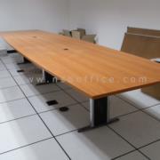 A05A124-1:โต๊ะประชุมทรงเรือขาตัวไอ 300W*120D*75H cm