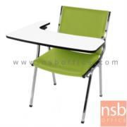 B07A086:เก้าอี้เลคเชอร์หุ้มหนังPVC และหุ้มผ้า  รุ่น PC-CLR40N ขาเหล็กชุบโครเมี่ยม