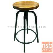 B09A136:เก้าอี้ปฎิบัติการที่นั่งกลม หน้าไม้เนื้อแข็งกลม CM-215 ขนาด Di30*H62-69 cm. (ปรับระดับด้วยแกนเกลียว)