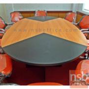A05A044-1:โต๊ะประชุมรูปไข่  8-10 ที่นั่ง ขนาด 260W*140D cm. เมลามีนทูโทน