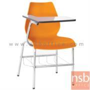 B07A089:เก้าอี้เลคเชอร์โพลี่ล้วน มีตะแกรงวางของ รุ่น B208,308  ขาเหล็กชุบโครเมี่ยม