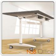 A05A069:โต๊ะพับอเนกประสงค์ มีช่องใส่กระดาษ ล้อเลื่อน ขนาด 160W*80D cm. YT-FTG10