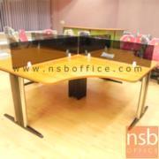 A27A006:ชุดโต๊ะทำงานกลุ่ม 4 ที่นั่ง 240W1*240W2 cm TY-WS014G พร้อมมินิสกรีน