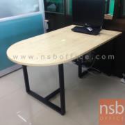 A05A131-1: โต๊ะประชุมทรงไส้กรอก ขาเหล็กกล่อง 150W*90D cm (วางชิดกำแพงได้)