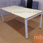 A13A024-1:โต๊ะทำงานโล่ง 140W*71D*74H cm. ขาเหล็กพ่นสี รุ่น TY-CDD ผิวเมลามีน