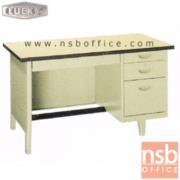 E28A102:โต๊ะทำงานเหล็กหน้าโฟเมก้า 4 ลิ้นชัก ยี่ห้อ Lucky รุ่น NTN   ผลิต 3 , 3.5 และ 4ฟุต