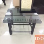 L01A103:โต๊ะกลางกระจก สีชา ขนาด 62W*54D*38H cm.