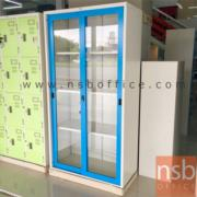 E30A008:ตู้บานเลื่อนกระจก ยี่ล้อเวลโก(WELCO) สูง 91.7W*45.7D*183H cm.