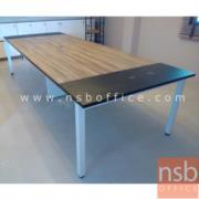 A05A087-3:โต๊ะประชุม รุ่น CONNEXX   520W cm. ขากลางมีกล่องร้อยสายไฟ ขาเหล็กทำสี