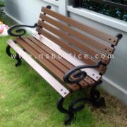 G08A009-2:เก้าอี้สนามไม้เต็ง เหล็กหล่อ 100 ซม. กทม. รุ่น BKK-CO43