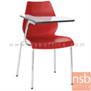 B07A062:เก้าอี้เลคเชอร์โพลี่ล้วน ไม่มีตะแกรงวางของ รุ่น B208  ขาเหล็กชุบโครเมี่ยม