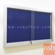 G01A012-1:บอร์ด 80*120 ซม. กรอบอลู บานกระจกเลื่อน แบบแขวน (ติดตั้งเฉพาะผนังปูน)