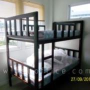 G11A085-2:เตียงเหล็ก 2 ชั้น ขนาด 3.5 ฟุต เหล็กกล่องขนาดใหญ่พิเศษ (งานอพาร์ทเมนท์)