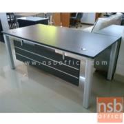 A13A023-1:โต๊ะผู้บริหารตัวแอล  รุ่น RZ-LIVE  ขนาด 160W cm.    พร้อมตู้ข้าง