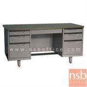 E30A018:โต๊ะทำงานเหล็ก 7 ลิ้นชัก รุ่น WDE 4.5 ฟุต และ 5 ฟุต