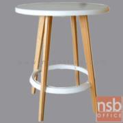 A09A101:โต๊ะหน้าพลาสติก(PP) รุ่น IMG-MODERN-48 ขนาด 60W cm.  ขาไม้สีบีช