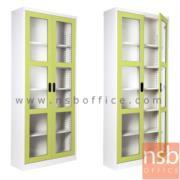 E25A016:ตู้เอกสาร 2 บานเปิดกระจกสูง 200 cm. รุ่น MAX-052